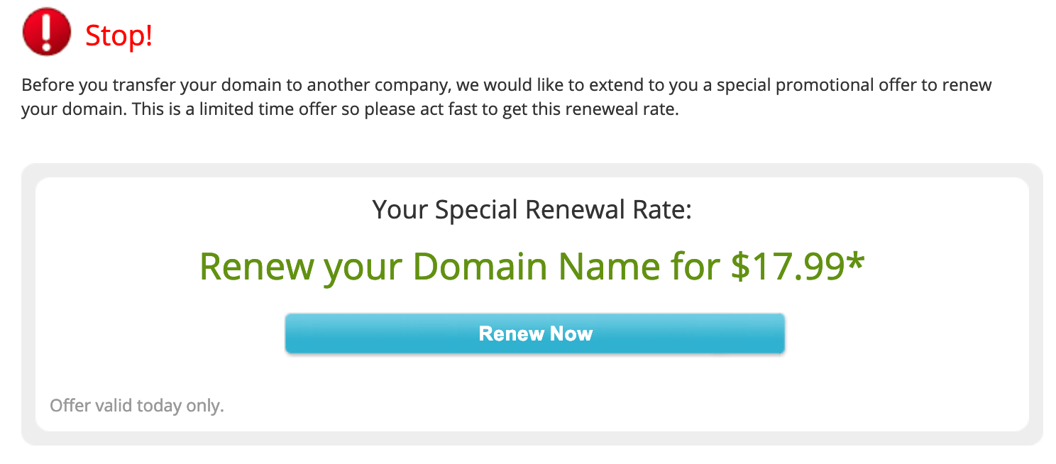 Network Solutions Stop Renewal Discount