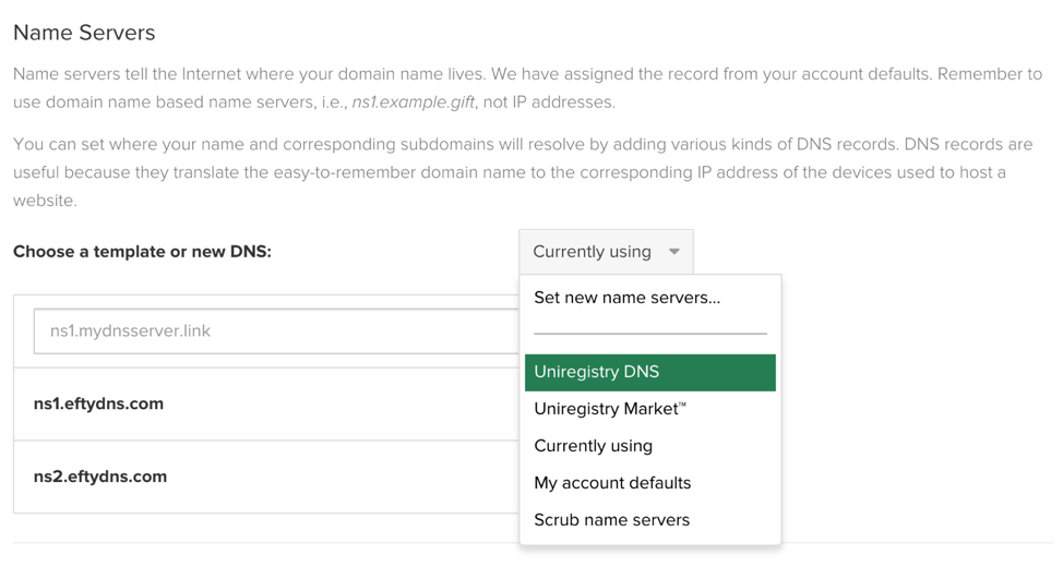 Catch-all Emails Default Name Servers
