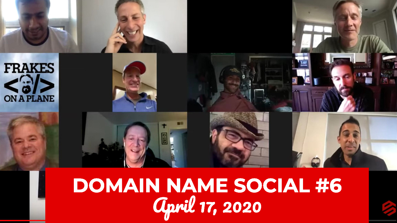 Watch Michael Cyger's Domain Name Quarantine Social #6 - April 17, 2020