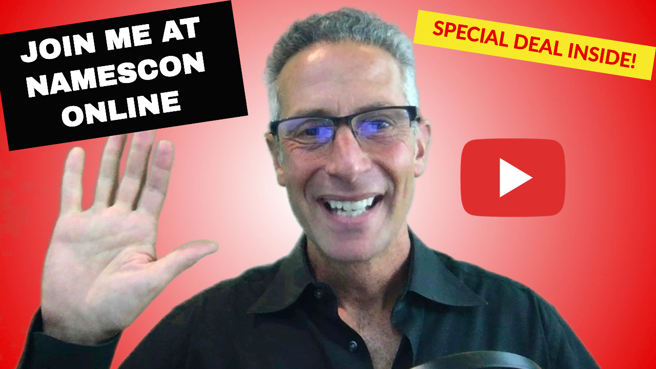 Join Michael Cyger at NamesCon Online, Sept 9-11, 2020