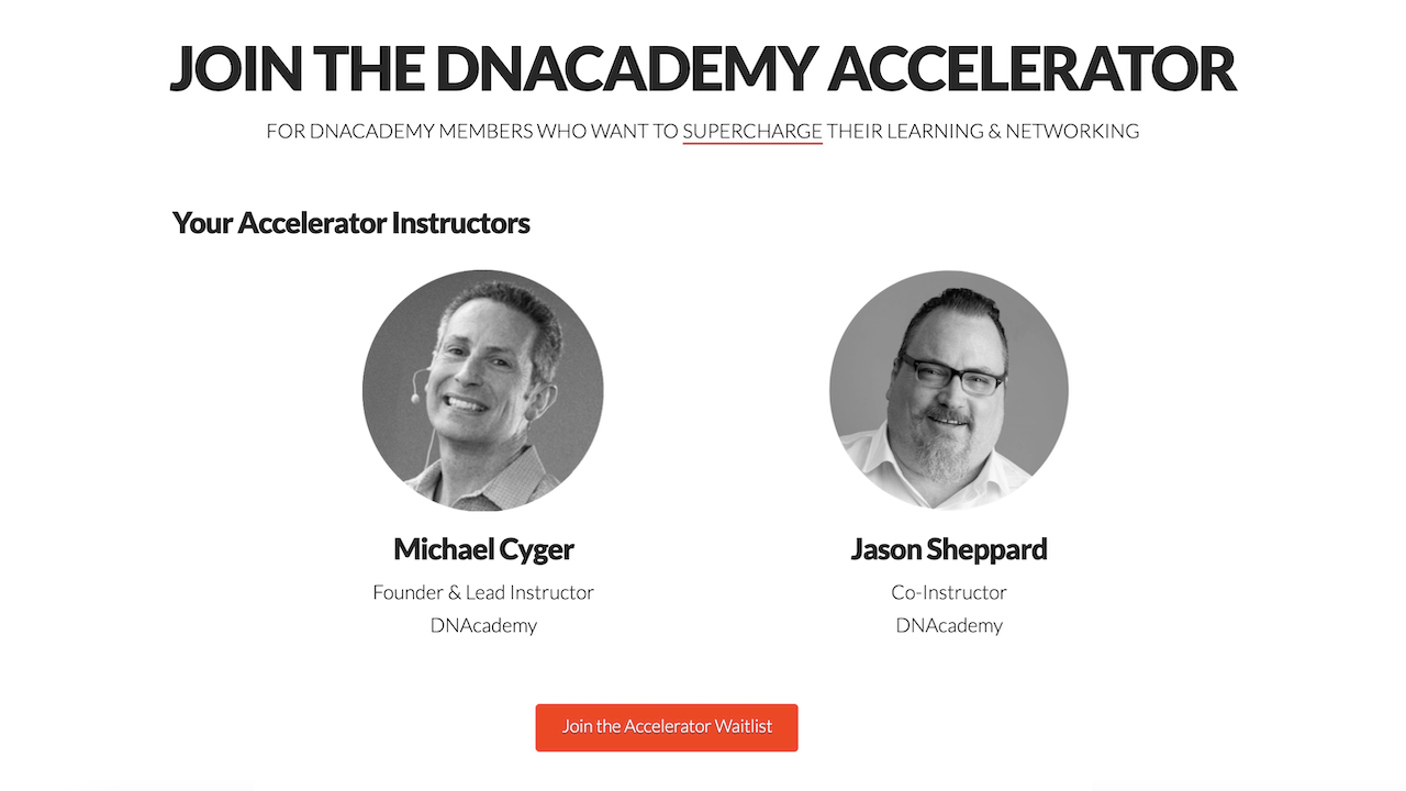 Jason Sheppard Co-Teaches DNAcademy Accelerator Batch #2