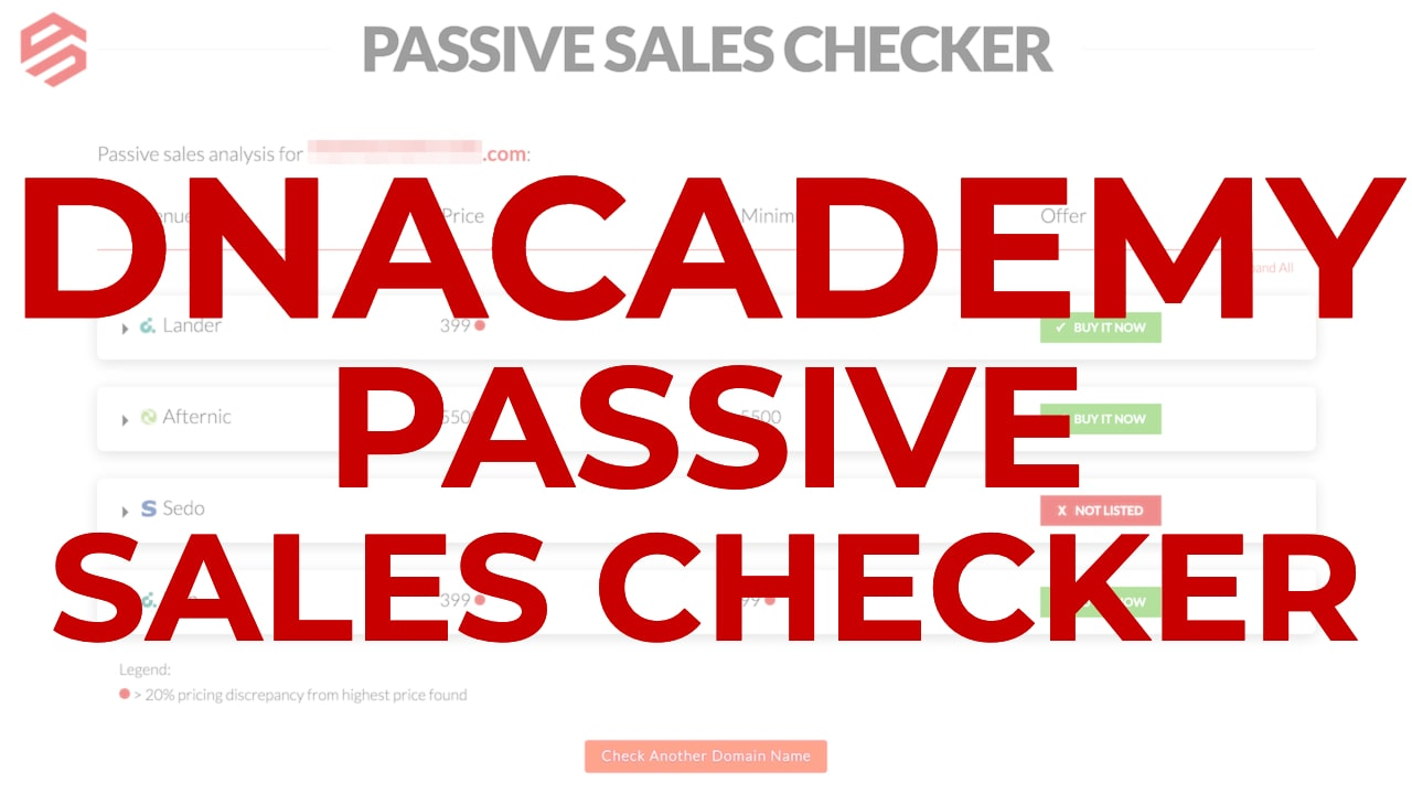 Domain Name Passive Sales Checker