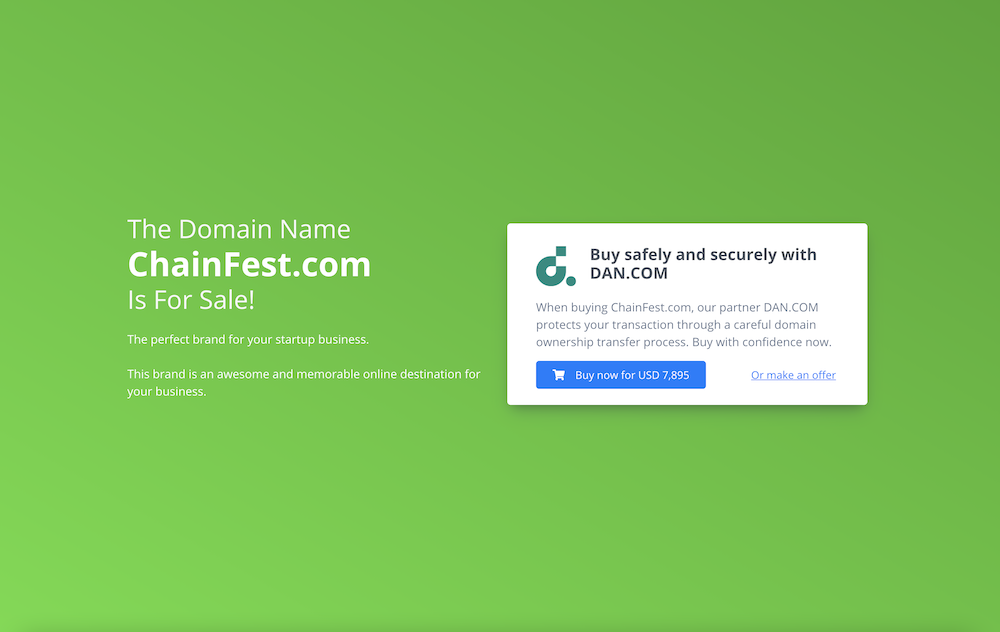 Typical for-sale landing page